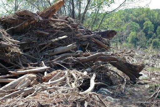 flood debris