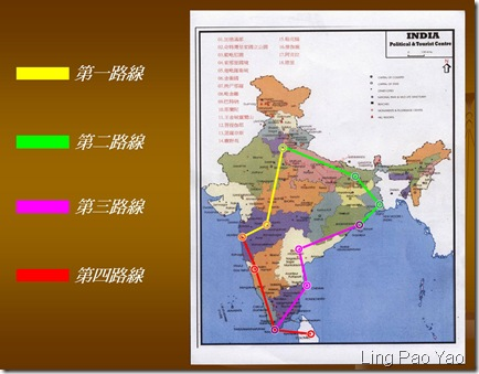 印度踏查路線