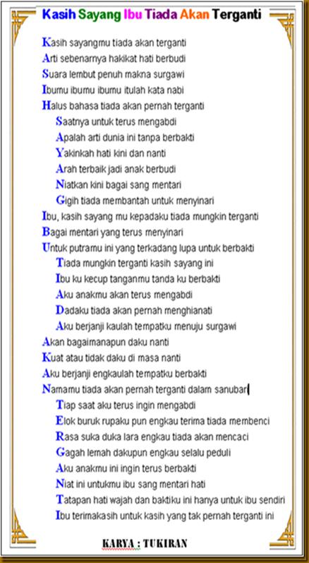 TERMINAL CURHAT: Puisi dan Kata Cinta Untuk Bunda..
