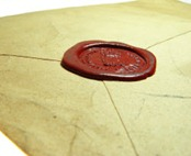 wax sealed envelope 250x203