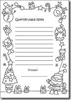 carta a papa noel para colorear