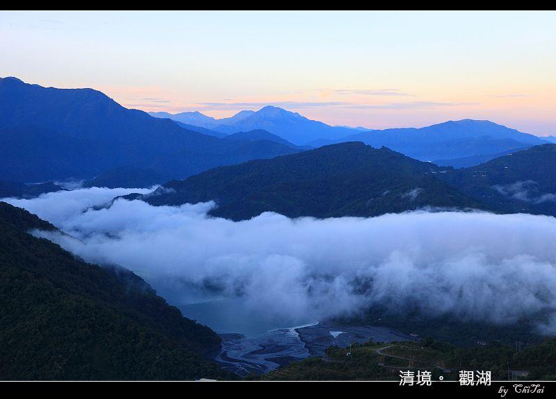 從晚到早...清境觀湖日出