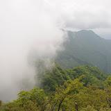 蛭ヶ岳アタック中。雲が迫ってきた。