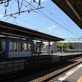 電車に乗り間違えて、戻るために降りた駅。なんか夏っぽい!