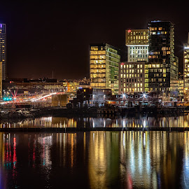 Oslo night by John Einar Sandvand - City,  Street & Park  Night ( oslo, norway )