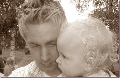 Pappa og lille gutt