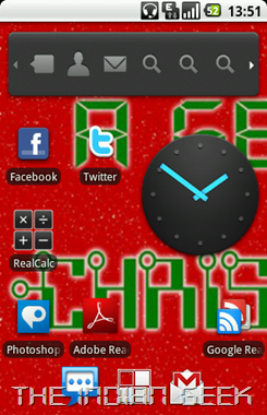 Android 2 - Desk Clock widget