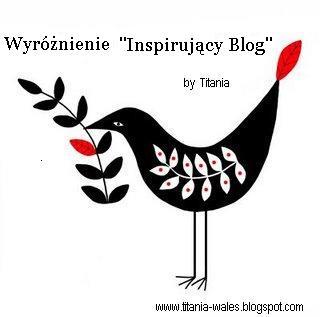 Wyróżnienie inspirujący blog