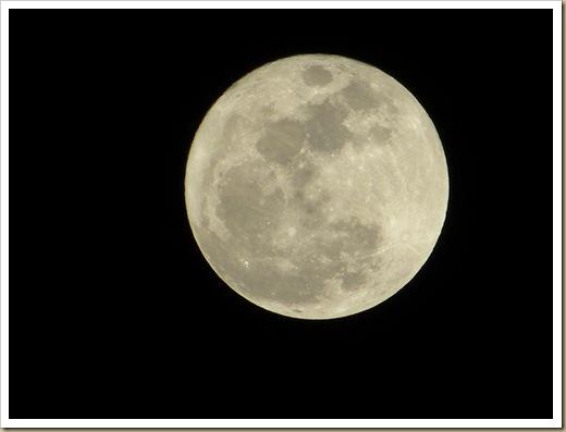 Lua vista de minha casa (Fevereiro 2010)