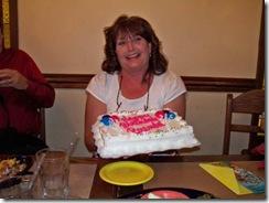 Brenda with cake