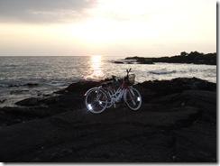 ハワイ島夕日です