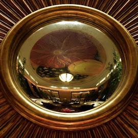 Interior Reflection by Lolotan Dalimunthe - Artistic Objects Other Objects ( mirror, interior, reflection, mulia hotel jakarta, golden, lolotan )