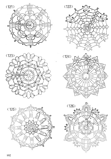 آخر تصاميم ورود الكروشية مع الباترون- ورود كروشية جديدة 2011