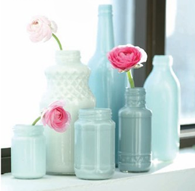 painted bottles from poppytalk