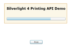Silverlight 4 Printing API Demo