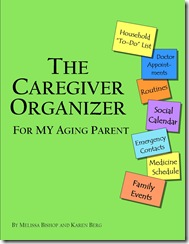 caregiver organizer cover parent