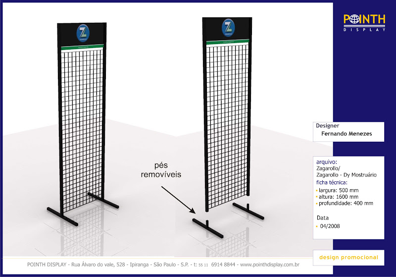 Display Chão Zagarollo Materiais: Aço e PS