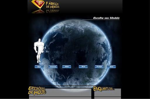 Fábrica de Heróis - Escolha o físico do Herói