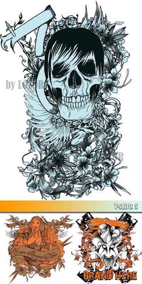 Estampas: T-shirts 5 - Caveira Emo