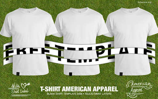 Templates de Camisa 27: American Apparel t-shirt Template