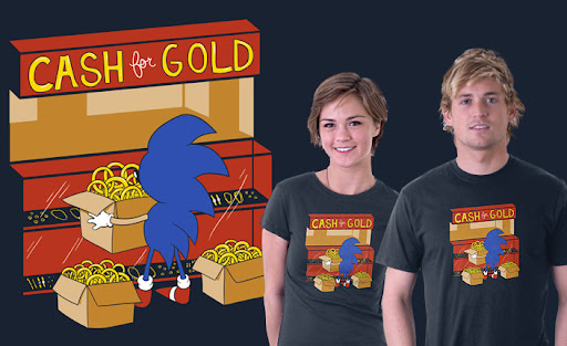 Camisa Sonic - Cash for Gold