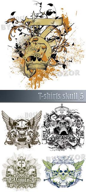 Camisa T-shirts skull 5