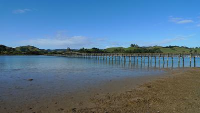 Bridge between Whananaki North and South