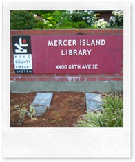 Mercer Island Library Sign