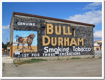 Cle Elum: Bull Durham advertisement