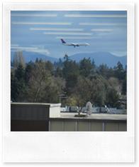 Jet Landing; Burien Library 2nd Floor