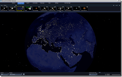 WorldWide Telescope: Earth@Night tour
