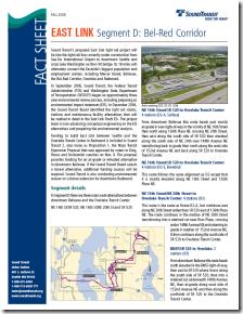 East Link Segment D: Bel-Red Corridor