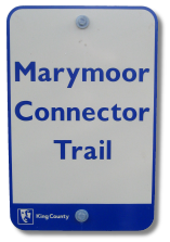 Marymoor Connector Trail sign