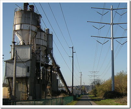 Interurban Trail industrial landscape