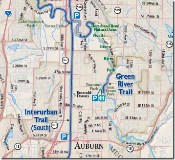 Interurban Trail map section