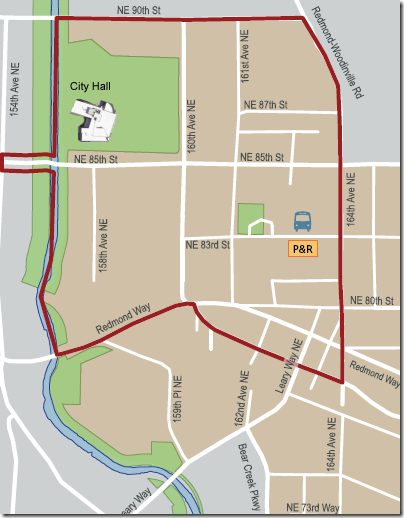 Redmond downtown parking map