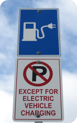 Parking for the electric vehicle charging station at Redmond City Hall