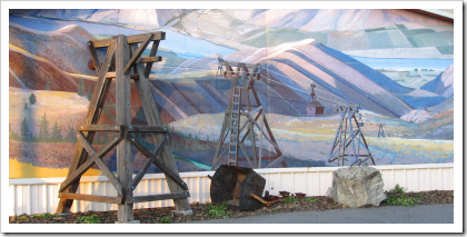 Douglas County Historical Museum mural (click for larger image)