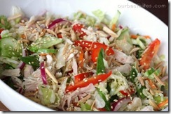 asian salad in bowl