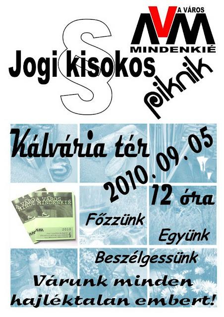 A Város Mindenkié, Kálvária tér,  piknik,  hajléktalanok, kisokos