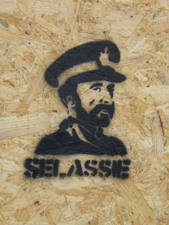 Ő császári felsége Hailé Szelasszié, Júda törzsének hódító Oroszlánja, az etióp királyok Királya és Isten választottja V. kerület, Deák tér,  Károly körút,  Hailé Szelasszié, stencil,  street art