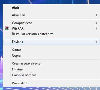"""Trucos opción """"Enviar a"""" de Windows 7 y Windows Vista"""