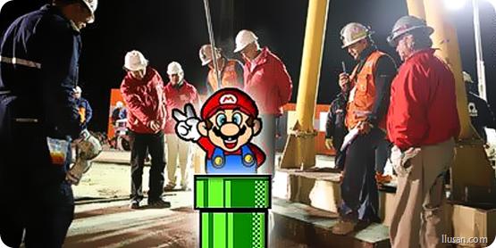 Rescate de lo Mineros chilenos al estilo de Mario Bros