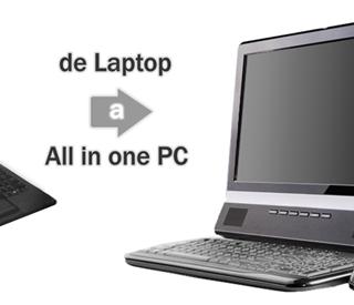 Convirtiendo una laptop portátil en una PC de escritorio