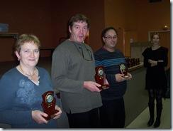 2010.11.14-007 Patrick vainqueur, Catherine 2ème et Didier Fonteau 3ème