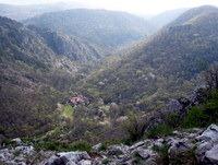 Pogled na dolino z grebena