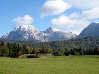 Pogled na osrednje Kamniško Savinjske Alpe