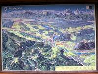 Zemljevid na začetku poti v Medvodah