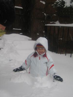 First Snow storm / Notre première tempête de neige