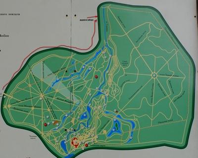 Схема Павловского парка